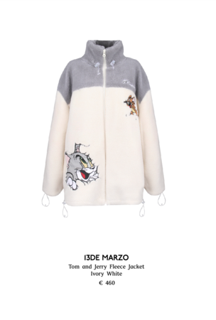 13DE MARZO Tom and Jerry Fleece Jacket